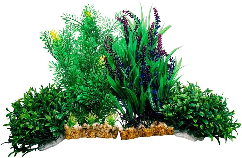 Otterly Pets Fish Tank Aquarium Decorations Premium Large Artificial Plastic Plants Accessories Decoration Plant Decor Betta and Other Decor Peseras para Peses Peceras y Acuarios 4 Pack