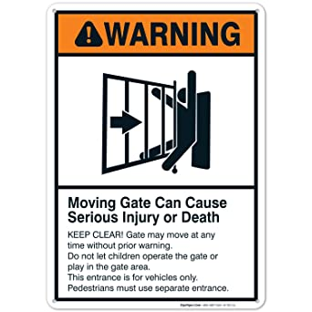 Moving Gate Sign