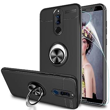 LeYi Funda Huawei Mate 10 Lite con Anillo Soporte, 360 Grados Giratorio Ring Grip con Kickstand Gel TPU de Silicona Bumper Case Carcasa Fundas Mate 10 ...