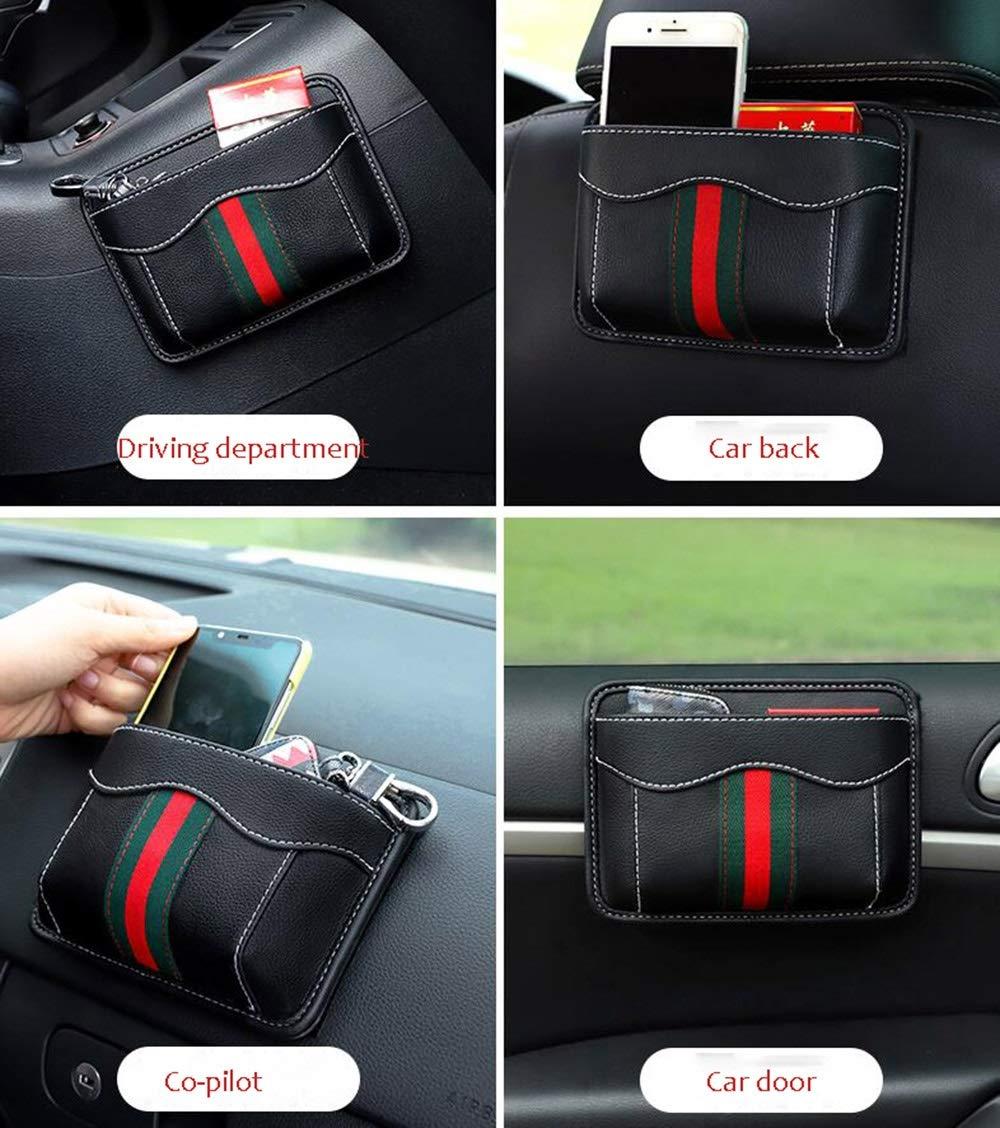 HongTeng Car Seat Storage Bag Multi-Function Storage Bag Leather Material (Color : B) by HongTeng (Image #8)