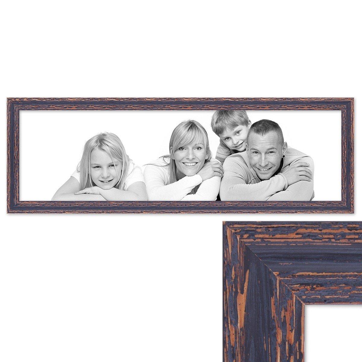 Amazon.de: PHOTOLINI Panorama-Bilderrahmen Vintage 30x90 cm Holz ...