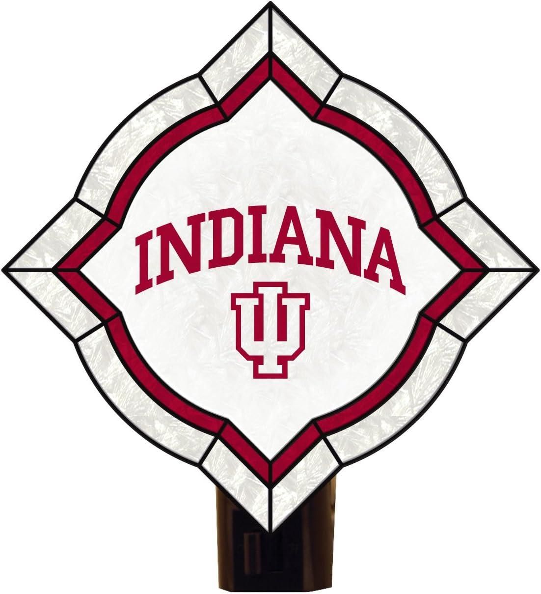 NCAA Indiana Hoosiers Vintage Art Glass Nightlight