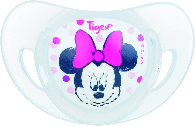 Tigex Minnie Set de 2 Sucettes Physiologiques Silicone 6 Mois