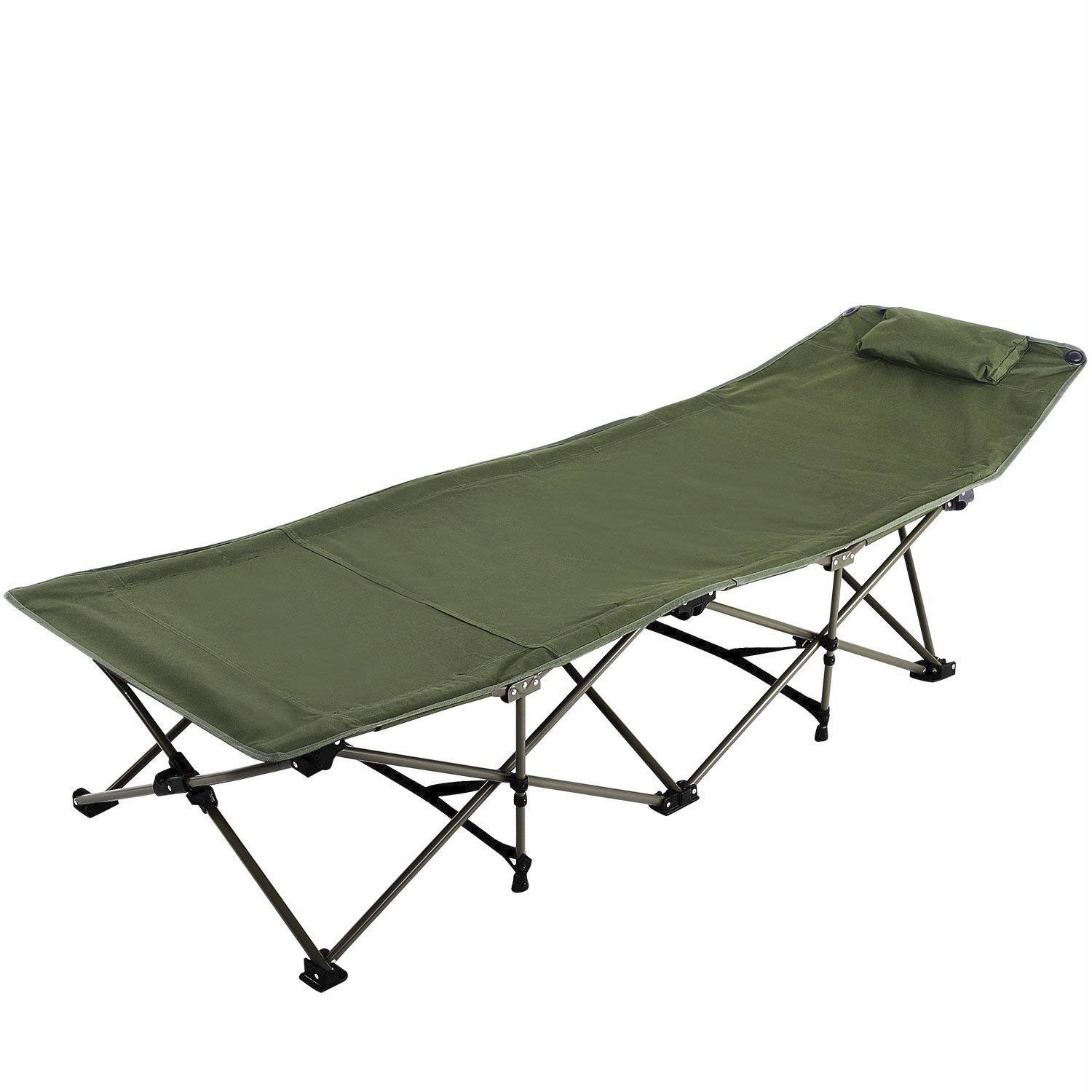 REDCAMP Folding Camping Cot for Adults, Portable Wide Camp Cots Bed for Sleeping, Lightweight for Outdoor Office Use, Green XL by REDCAMP