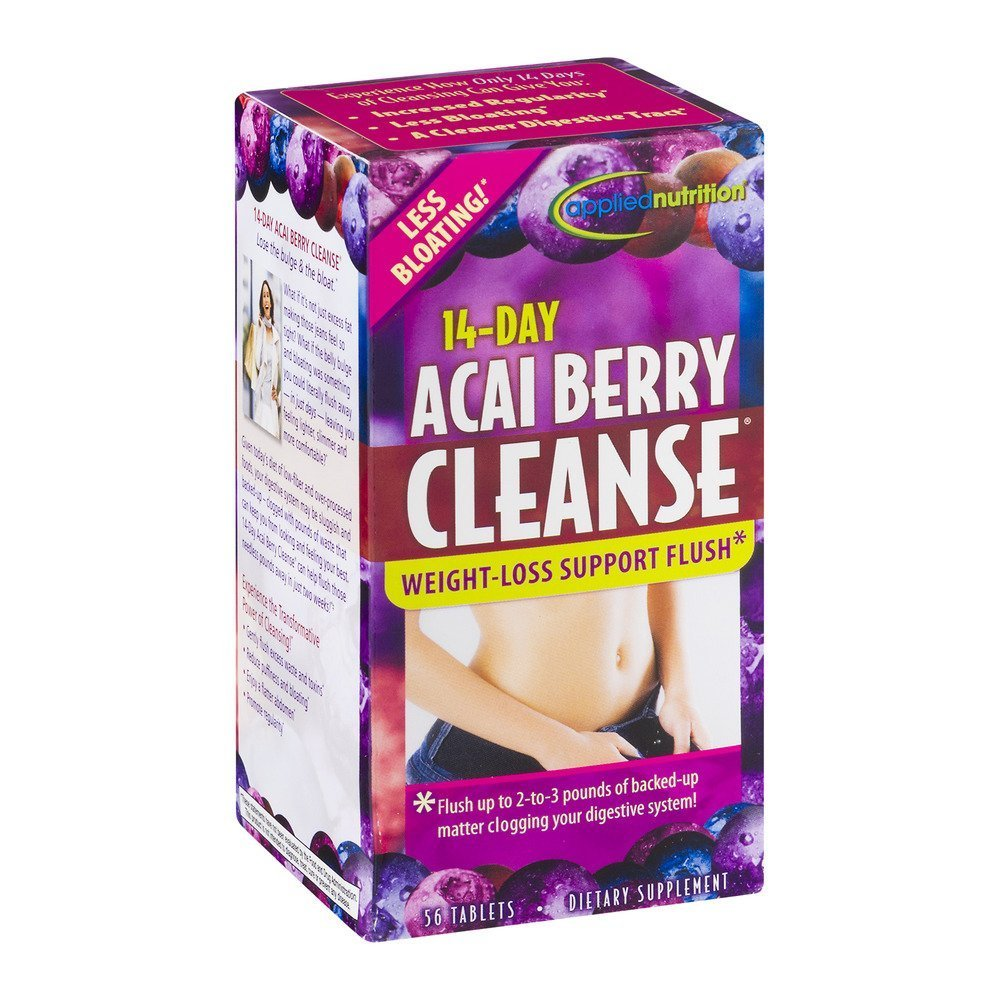 Applied Nutrition 14-Day Acai Berry Cleanse Tablets 56 Tablets Pack of 5