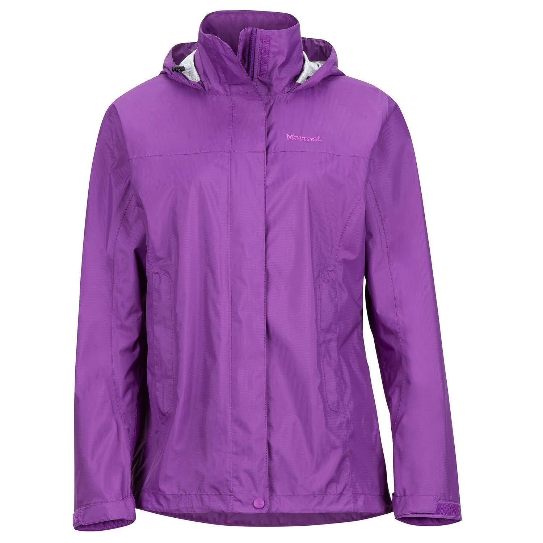Bright purple Marmot PreCip Women's Lightweight Waterproof Rain Jacket