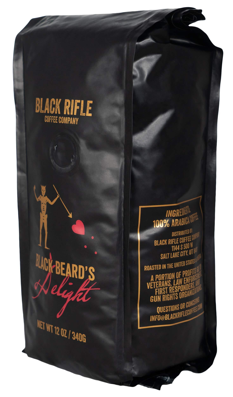 Black Rifle Coffee Company Blackbeard's Delight Coffee Dark Roast Whole Bean, 12 Ounce Bag
