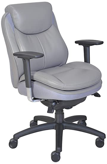 Serta Smart Layers Commercial Series 400 Task Puresoft Faux Leather Task  Chair, Grey