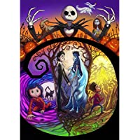 Leezeshaw 5D DIY Diamond Painting By Number Kits Fameless Rhinestone Embroidery Paintings Pictures For Home Decor - Corpse Bride (11.8x15.7inch/30x40cm)