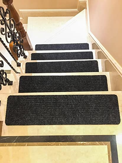 Beau Stair Treads Black Thick And Soft Slip Resistant Carpet Stair Runners Non  Skid Indoor 30 Inch