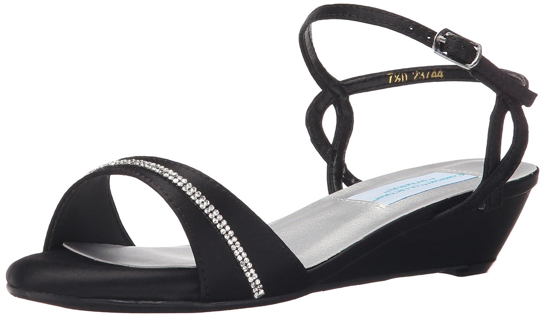 Dyeables, Inc Womens Mallory Dress Sandal B005BJLU9K 7 W US|Black Satin