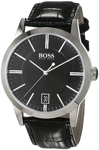 HUGO BOSS Men's Analogue Quartz Watch with Leather Strap - 1513129: Hugo  Boss: Amazon.co.uk: Watches