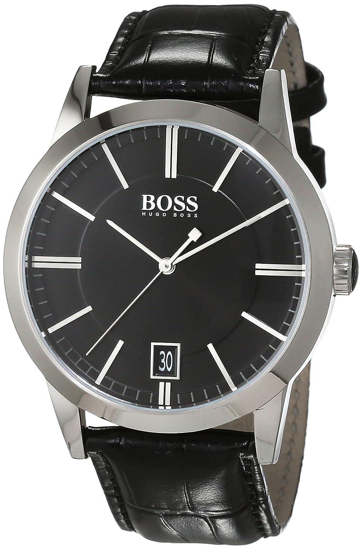 Hugo Boss Herren-Armbanduhr Analog Quarz Leder 1513129