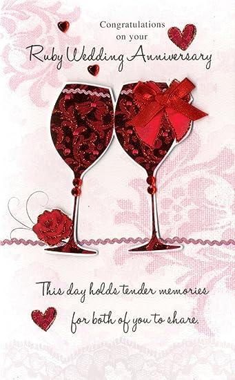 Gedicht 40 Hochzeitstag 40 Hochzeitstag Rubinhochzeit