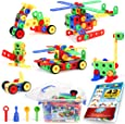 101 Piece STEM Toys Kit | Educational Construction Engineering Building Blocks Learning Set for Ages 3, 4, 5, 6, 7 Year Old Boys & Girls by Brickyard | Best Kids Toy | Creative Games & Fun Activities