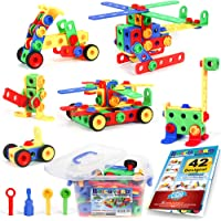 101 Piece STEM Toys Kit, Educational Construction Engineering Building Blocks Learning Set for Ages 3 4 5 6 7 8 9 10…