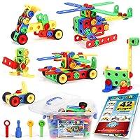 101 Piece STEM Toys Kit, Educational Construction Engineering Building Blocks Learning...