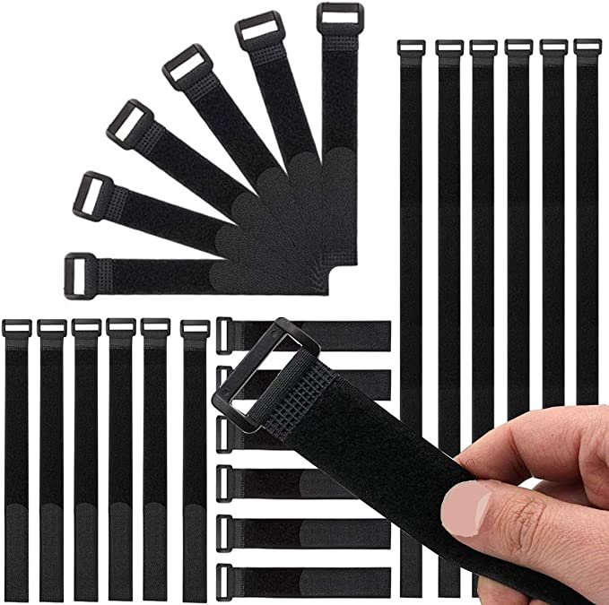 Beihuazi Klett Kabelbinder Kabel Klettband Wiederverwendbare Klettverschluss Kabelbinder Für Den Vielseitigen Einsatz Im Kabelmanagement 4 Verschiedene Größen Schwarz Baumarkt