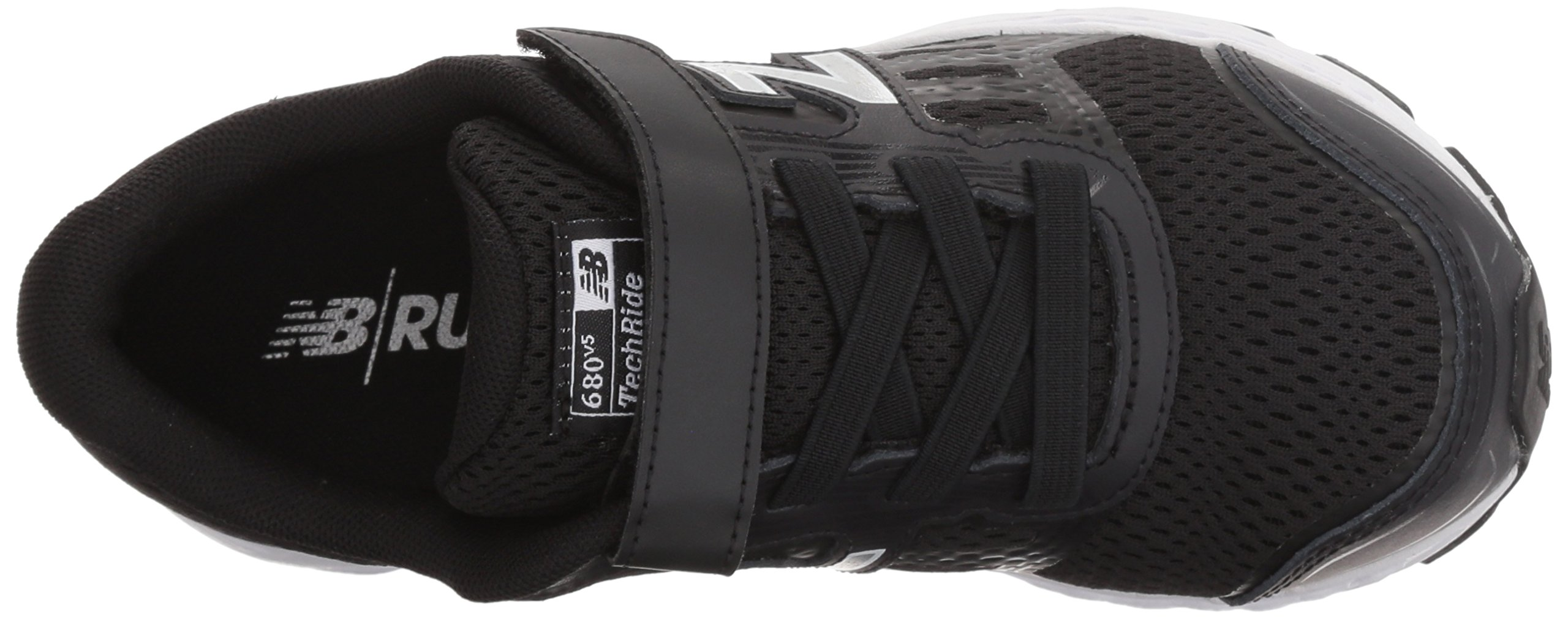 New Balance Boys' 680v5 Hook and Loop Running Shoe, Black/White, 9 M US Toddler by New Balance (Image #7)