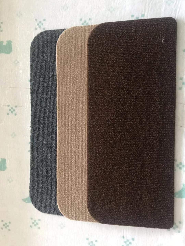 15 Ensemble de tapis de l/étape descalier tapis antid/érapant adh/ésif Tapis//Tapis for escalier Bande de roulement antid/érapant Color : Beige, Size : 45X15.5+3.5cm autoadh/ésif