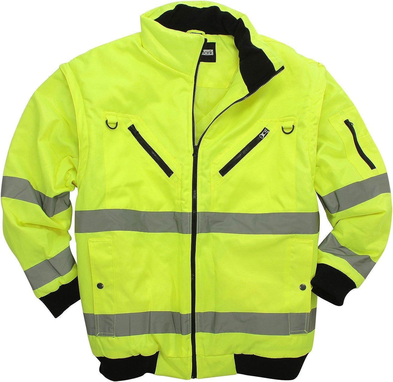 Marc Mark Neongelbe Arbeitsjacke Weste Großen Größen Bis 10xl Bekleidung