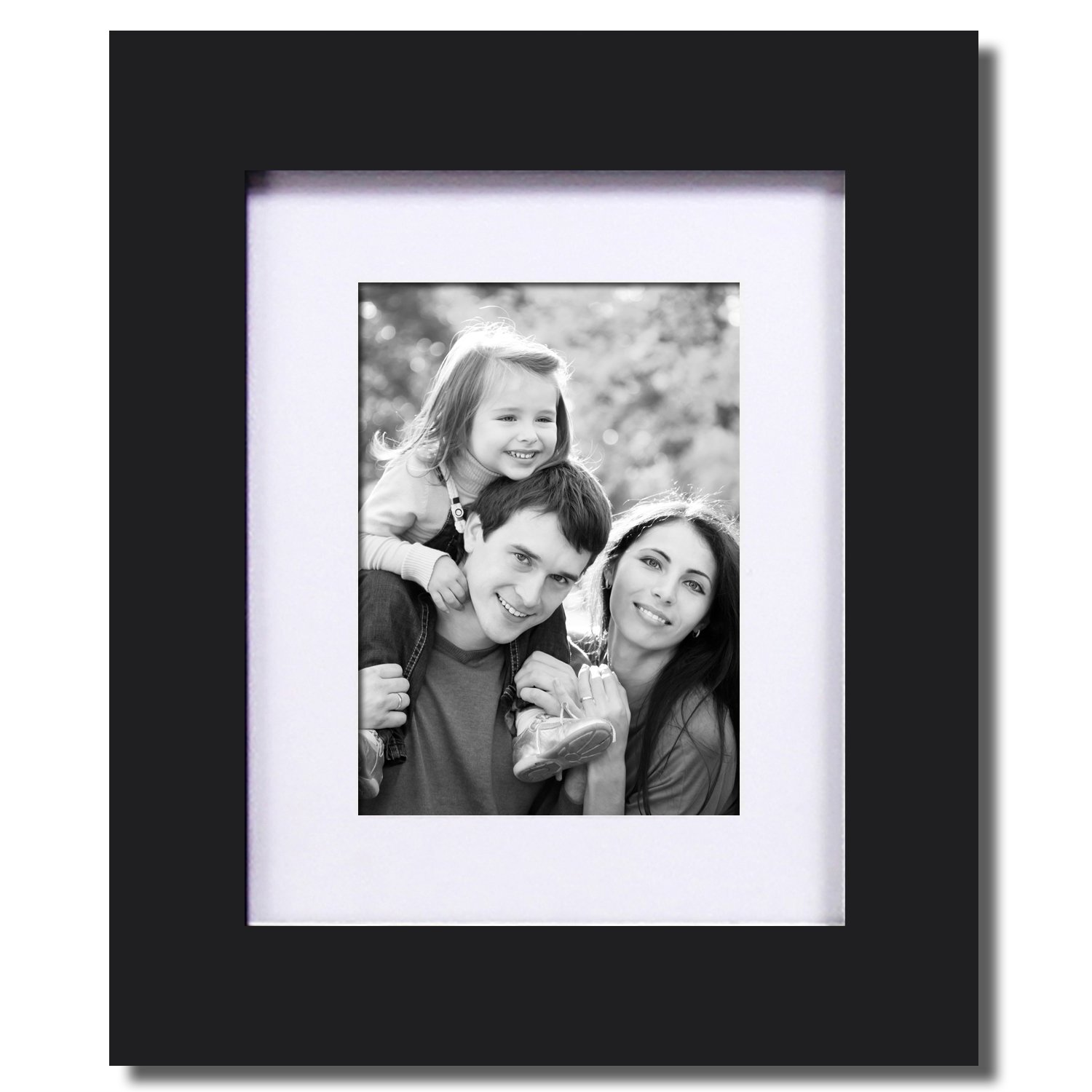 Amazoncom Adeco 8x10 Black Wood Decorative Picture Frame With