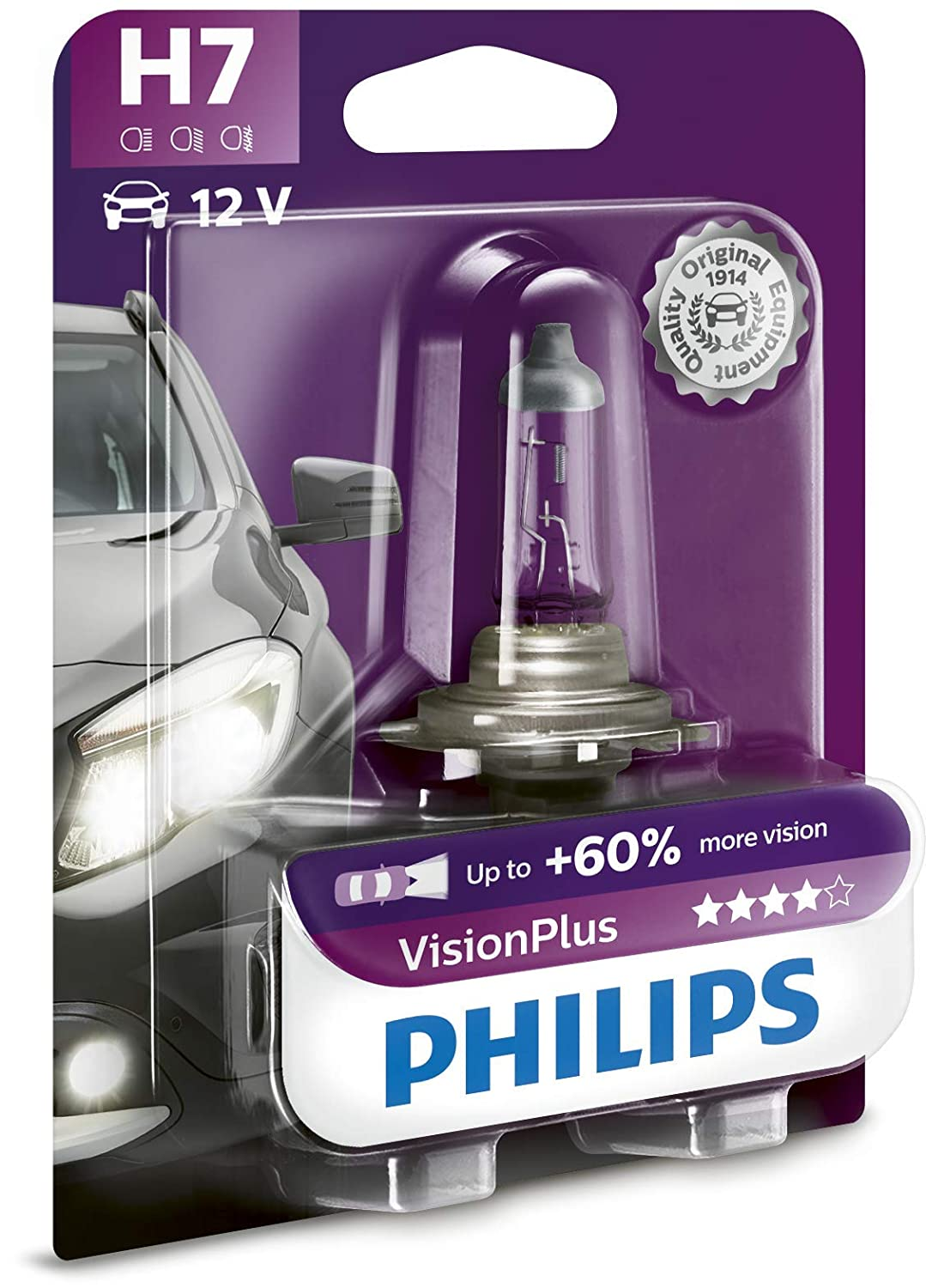 Philips 12972VPS2 S2 12V H7 Vision Plus 60/%