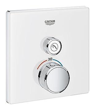 Grohe 29153LS0 Grohtherm Smartcontrol Termostato con Un Chorro Regulable, Blanco, Cuadrado: Amazon.es: Bricolaje y herramientas