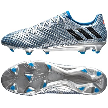 Adidas Messi 16.1 Fg Silver/Black/Blue Soccer Shoes 6.5