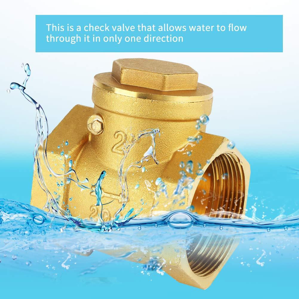 DN50-Innengewinde Messing R/ückschlagklappe mit R/ückschlagventil 232PSI Verhindert Wasserr/ückfluss Druck 232PSI Hilitand R/ückschlagventil