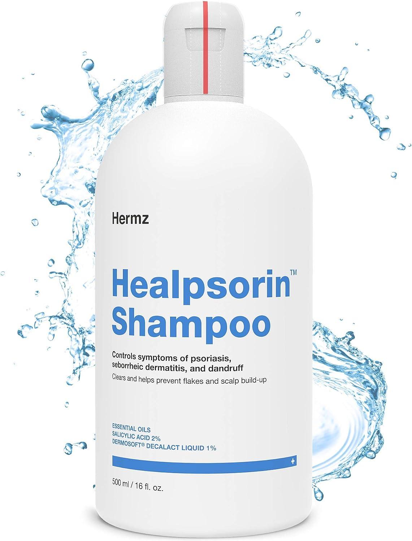 Champú Terapéutico 500ml Tratamiento Para Psoriasis Capilar, Eccemas, Descamación y Picazón del Cuero Cabelludo, Combate el Exceso de Grasa - Healpsorin