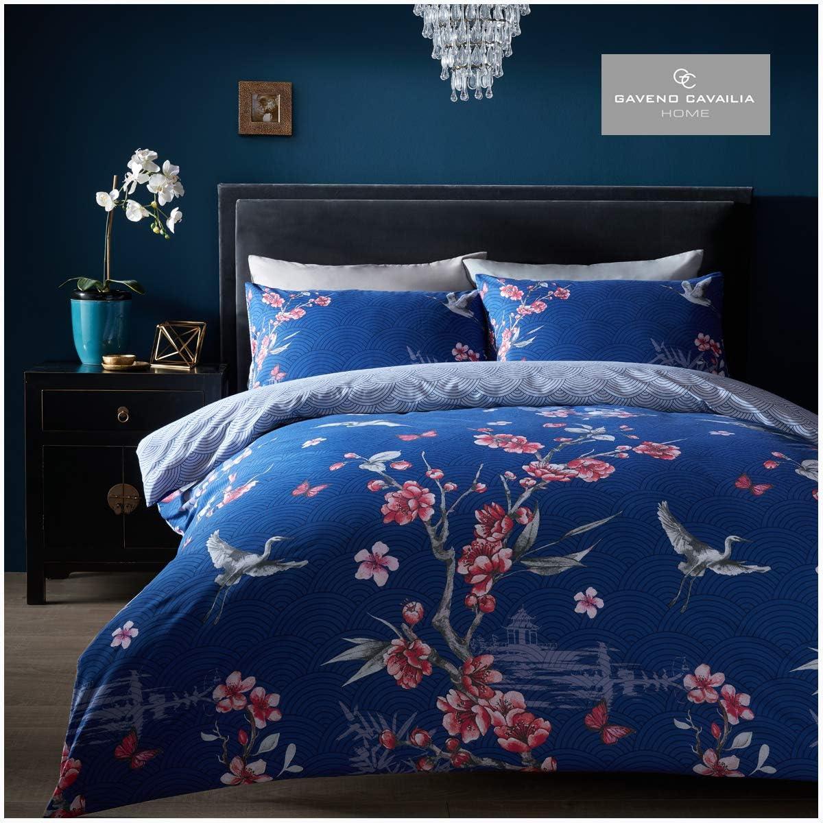 Vintage Birds Animal Print 3Pcs Duvet Set Quilt Cover Pillow Cases Bedding set
