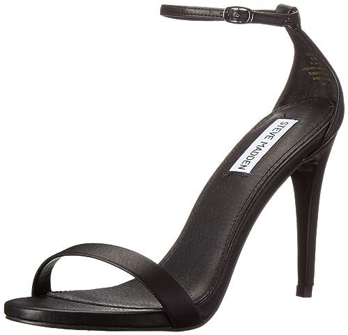 Steve Madden Stecy, Scarpe Col Tacco con Cinturino Alla Caviglia Donna, Nero,  36