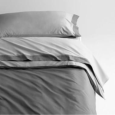 Casper Sleep Soft and Durable Supima Cotton Sheet Set, Queen, Grey/Slate