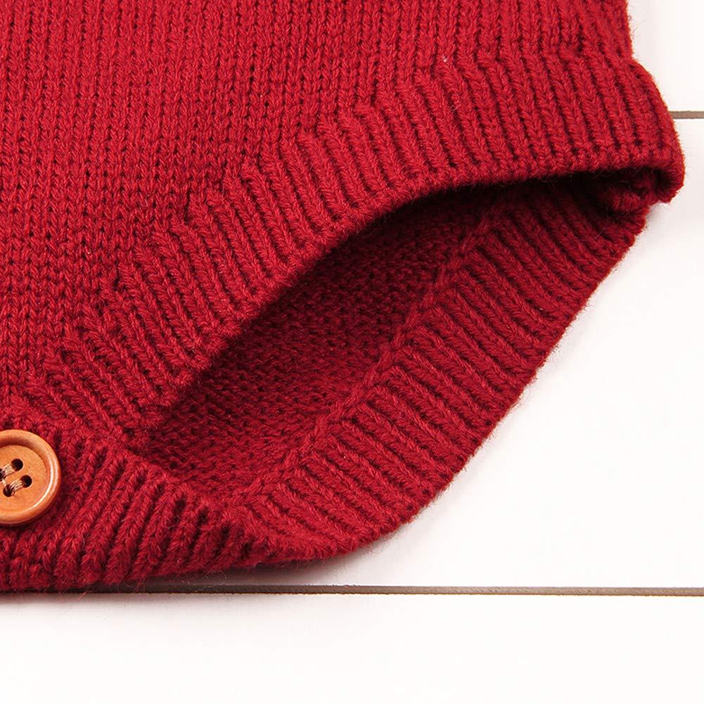 Vawal Neugeborenes Baby M/ädchen Lange /Ärmel Sweater Strampler Jumpsuit Pullover Herbst Winter Bodys Kleidung