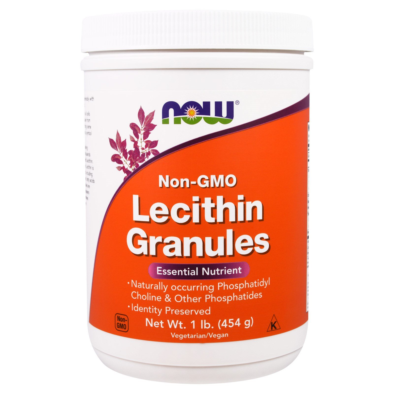 Now Lecithin Granules, NGE, 1-Pound (Pack of 2) by NOW Foods