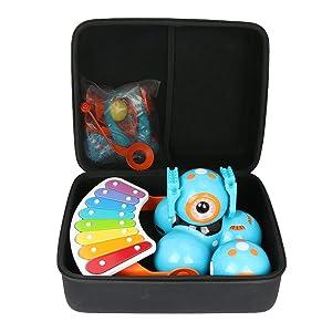 Co2Crea Hard Travel Case for Wonder Workshop Dash Robot/Dot Creativity Kit/Xylophone/Launcher