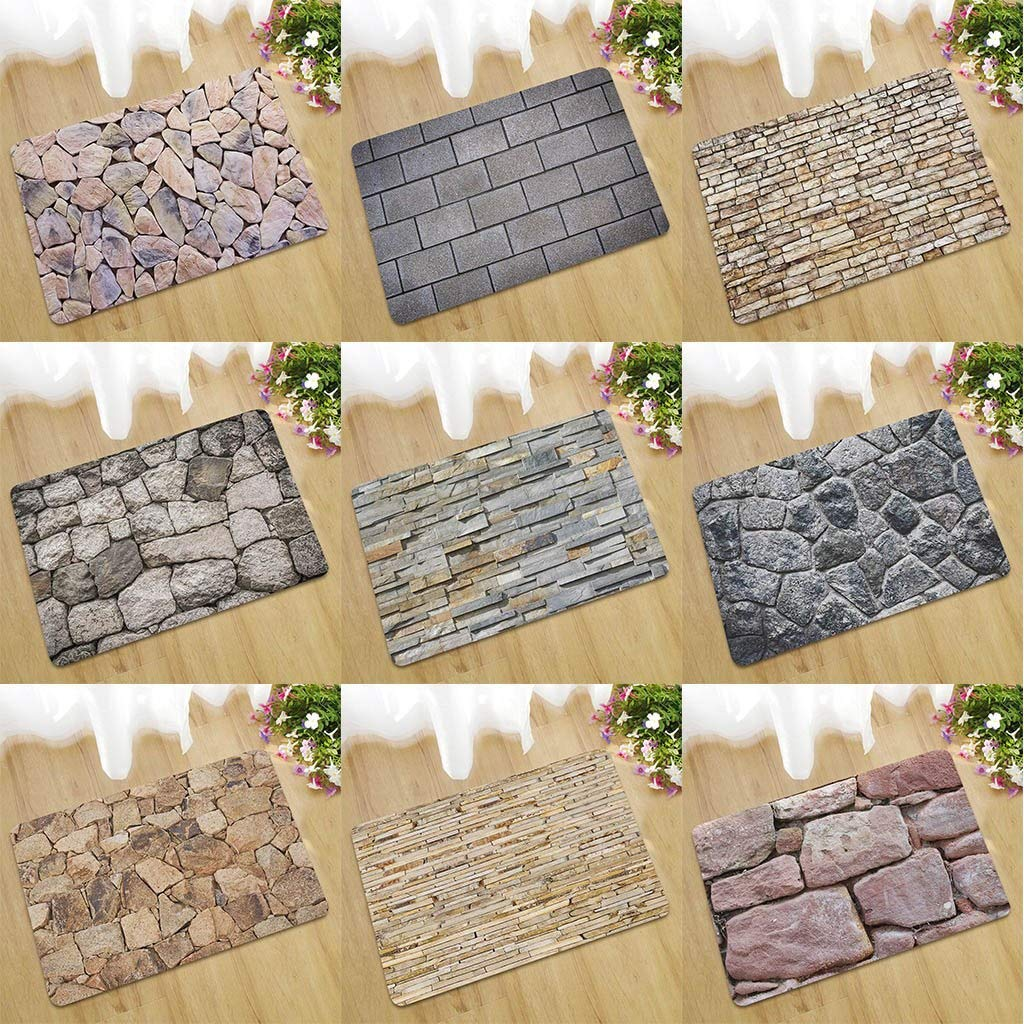 ANJUYA 2019Fake Tile Bricks Bedroom Floor Door