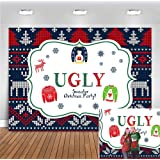 Annual Merry Christmas Ugly Sweater Party Photography Backdrop 7x5ft Vinyl Kids Elfed Birthday Banner Supplies Winter…