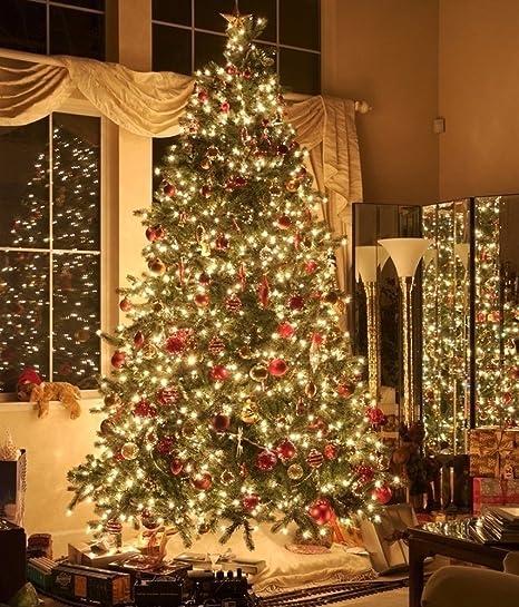 10 M 100 DEL Arbre de Noël Sapin de Noël Guirlande lumineuse éclairage D/'intérieur extérieur