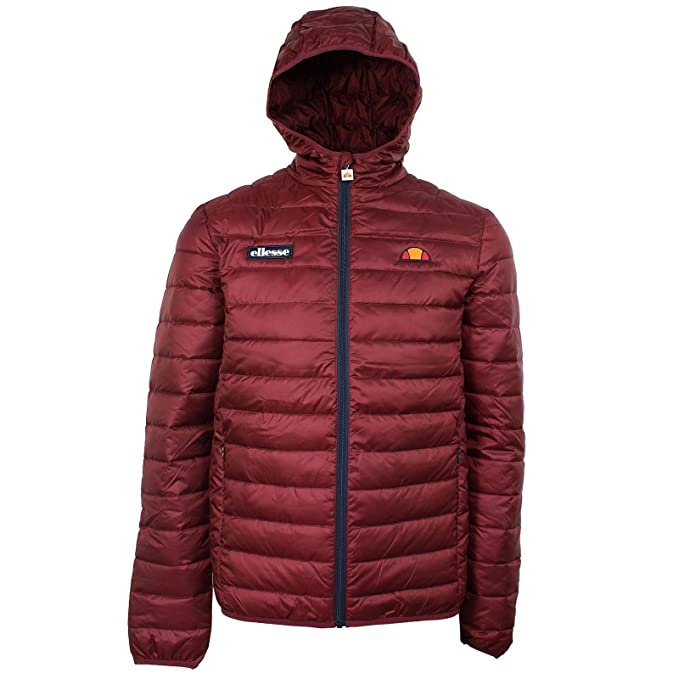Ellesse Lombardy Puffer Jacket Burgundy  Amazon.it  Abbigliamento e52402fe638