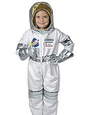 Melissa & Doug 18503 Astronaut Role Play Costume Set (5 pcs) -Jumpsuit, Helmet, Gloves, Name Tag, Multicoloured, 4.1 cm L W X 43.7 cm H