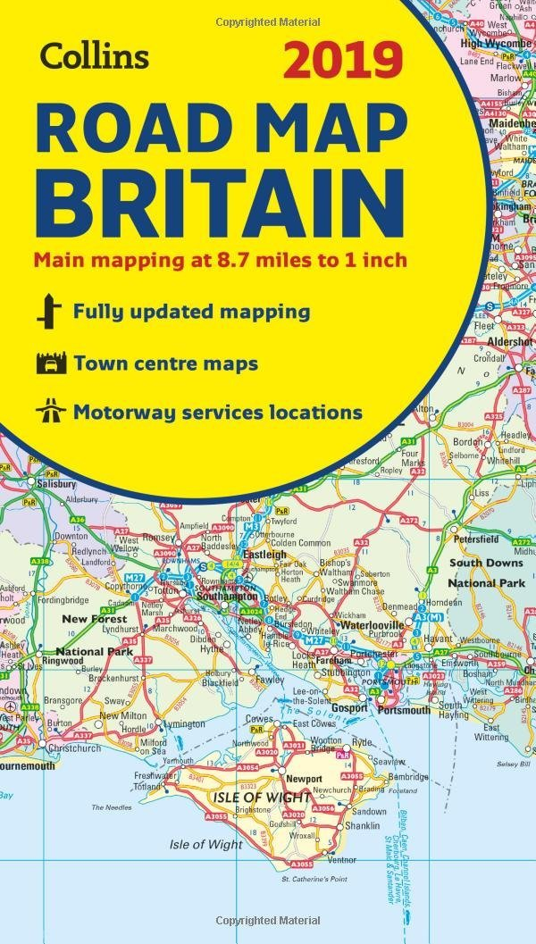 Atlas Map Of England.2019 Collins Map Of Britain Collins Maps Amazon Co Uk Collins