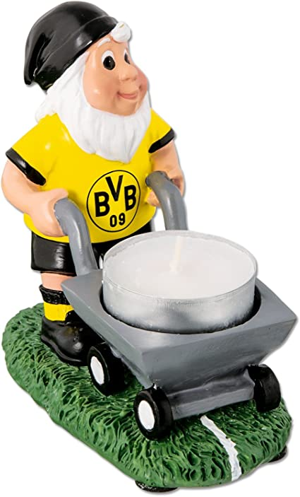 Neu BVB Gartenzwerg Teelicht Dortmund