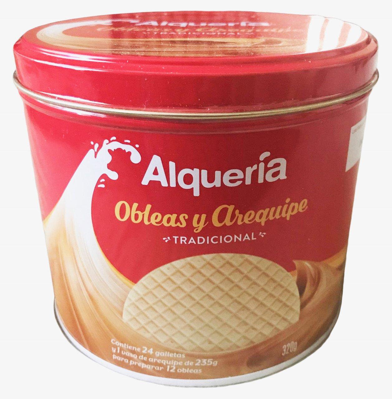 Amazon.com : Obleas y Arequipe Alqueria (Tradicional) 320 Grams : Grocery & Gourmet Food