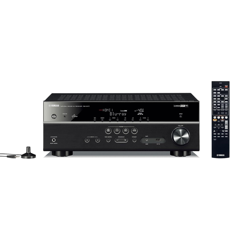ヤマハ RX-V477(B) AVレシーバー 5.1ch/4K/ネットワークオーディオ/ハイレゾ音源対応 ブラック   B00JLWNPG4
