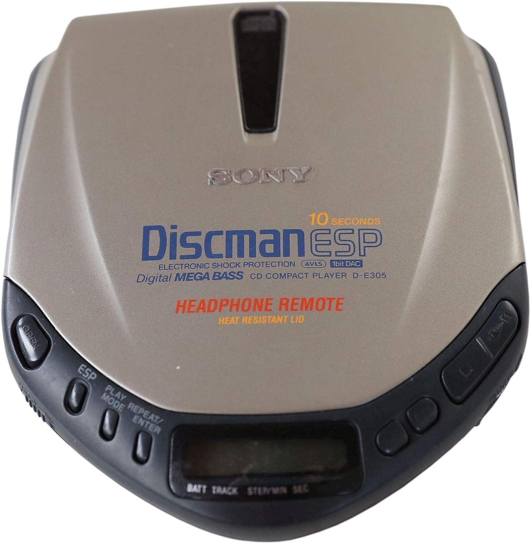 Sony D E 305 Tragbarer Cd Spieler Discman In Silber Elektronik