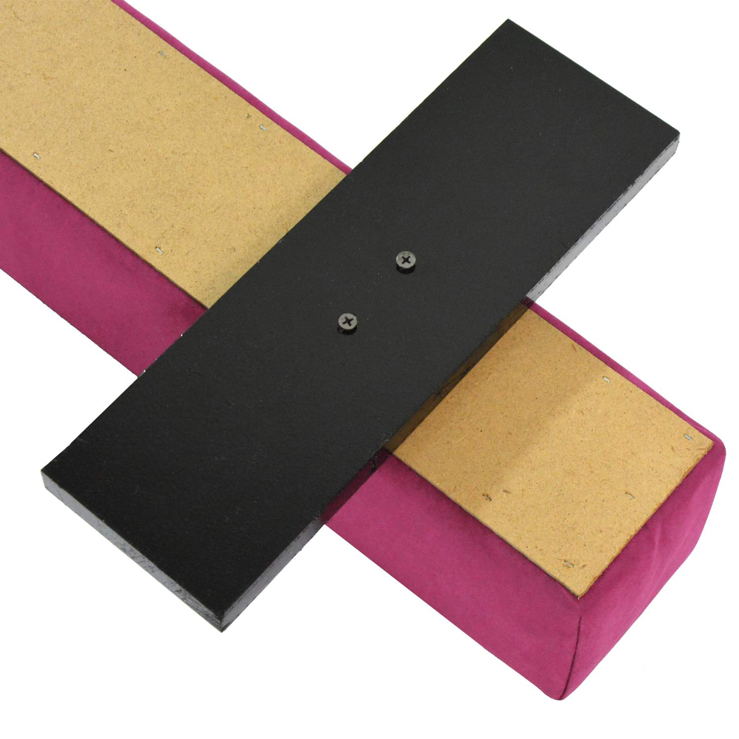 Modern-Depo 8ft Folding Balance Beam with Non Slip Floor Feet, Standard 4 Inches Width Suede Surface and Wood Base Floor Beam for Kids Home Gymnastics Training (Pink) by Modern-Depo (Image #7)