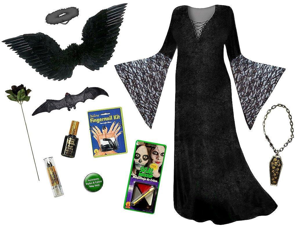 Amazon.com: Dark Fairy Angel Plus Size Supersize Halloween Costume Deluxe Kit: Clothing