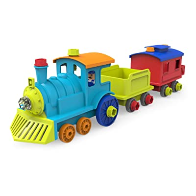 Educational Insights Design & Drill All Aboard Train - Drill Toy, STEM Learning: Toys & Games